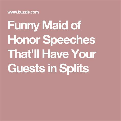 Funny Maid of Honor Speeches That'll Have Your Guests in
