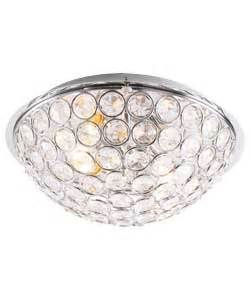 Argos Ceiling Light Buy Sparkle Flush 2 Light Ceiling Fitting Silver At Argos Co Uk Your Shop For