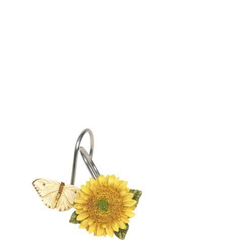 sunflower shower curtain hooks sweet sunflowers shower curtain hooks walmart com