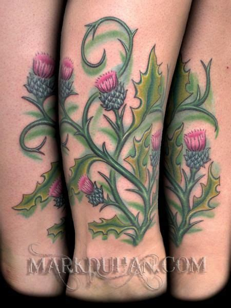 scottish rose tattoo tattoos duhan thistle tattoos