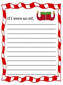 printable elf writing paper if i were an elf writing activity by kimberly wilson tpt