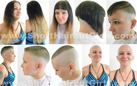 long to bald female haircuts long to bald haircut haircuts models ideas