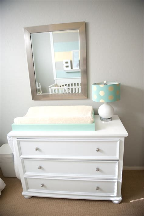 Changing Pad On Dresser by Design Reveal Cool And Calm Nursery Project Nursery
