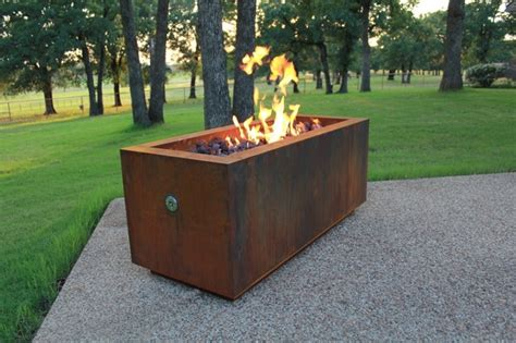 Linear Hidden Propane Tank Fire Pit Contemporary Home Propane Tank Firepit