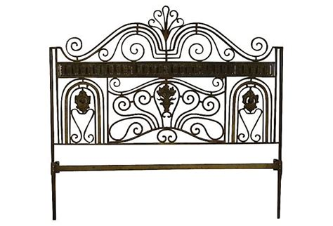 wrought iron headboard king size on