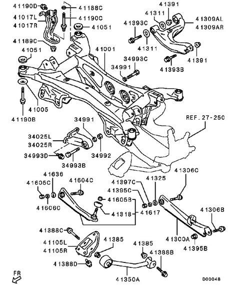 mitsubishi parts diagrams mitsubishi endeavor parts diagram rear mitsubishi auto