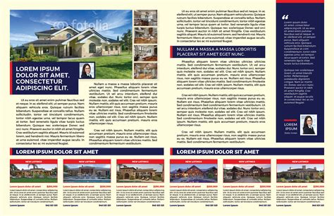 real estate newsletter template myindesign