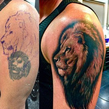lion cover up tattoo cover up oriana studio