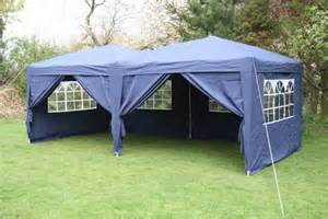 Pop Up Gazebo Jysk by Airwave 6x3m Blue Pop Up Gazebo Fully Waterproof Side