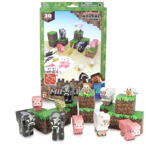 Minecraft Papercraft Animal Mobs Set - minecraft supplies webnuggetz
