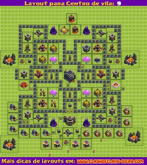layout defesa cv 9 layouts para clash of clans cv 9 atualiza 231 227 o 4
