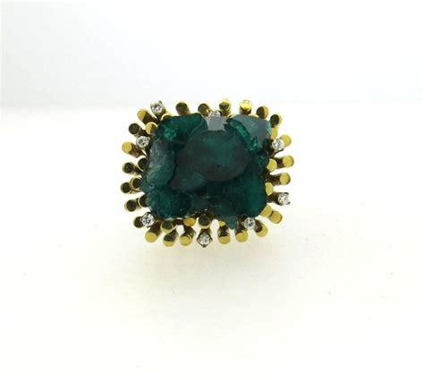 1970s chatham emerald gold ring at 1stdibs