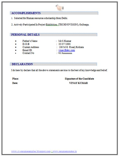 resume declaration statement 10000 cv and resume sles with free resume templates word