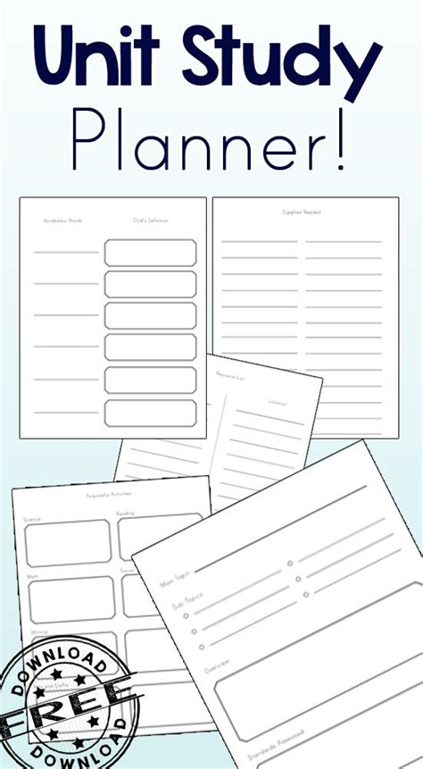 free printable unit study planner 159 best images about unit studies on pinterest
