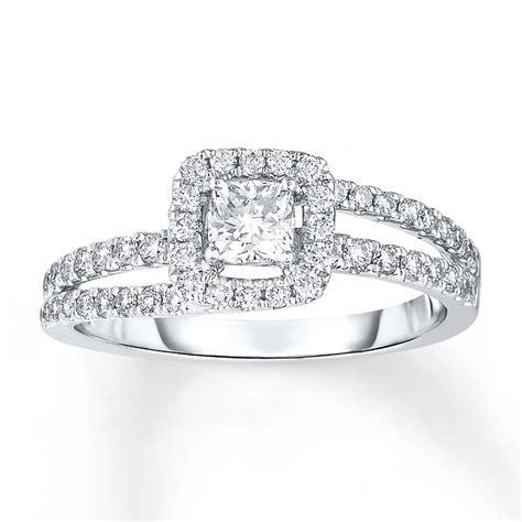 engagement ring 5 8 carat tw 14k white gold