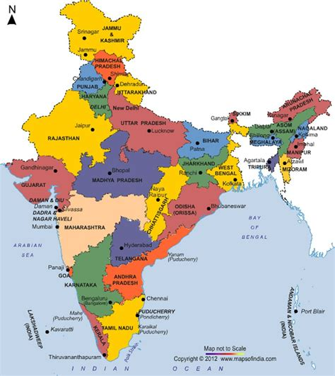 map of india states states of india current affairs upsc 2018