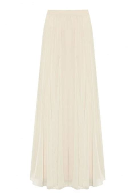 plus size white flowing maxi chiffon skirt elizabeth