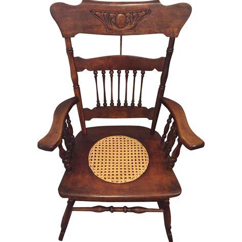 rocking chair seat antique rocking chair w seat hartwig kemper