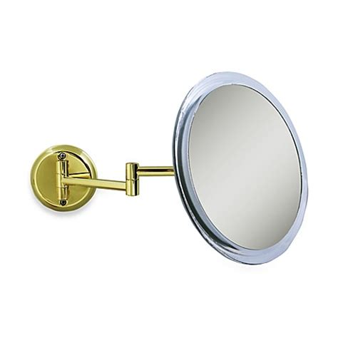 bed bath and beyond makeup mirror zadro 5x wall mounted makeup mirror in brass bed bath