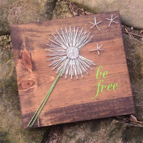 Dandelion String - be free danelion string by grizzlyandco on etsy