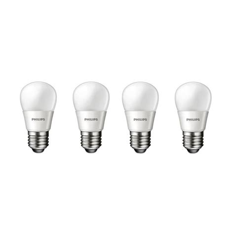 Philips Led 3 Watt Putih jual philips led bulb p45 putih lu 3 watt 4 pcs