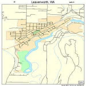 Leavenworth Washington Map by Leavenworth Washington Street Map 5338845