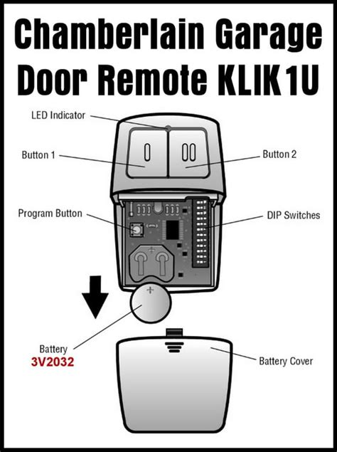 How To Program Garage Door Openers How To Program The Chamberlain Garage Door Remote Klik1u Removeandreplace