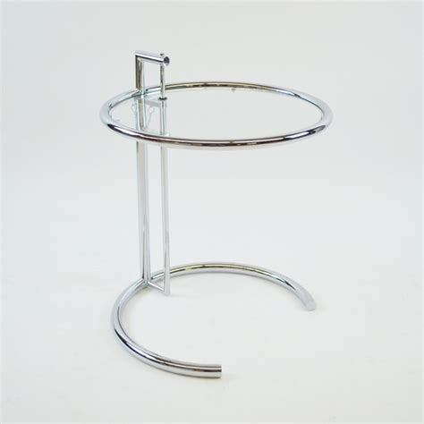 glass top adjustable height desk eileen gray adjustable height chrome side table glass top