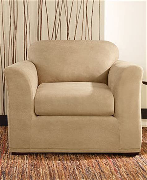 faux leather slipcover sure fit stretch faux leather slipcover collection