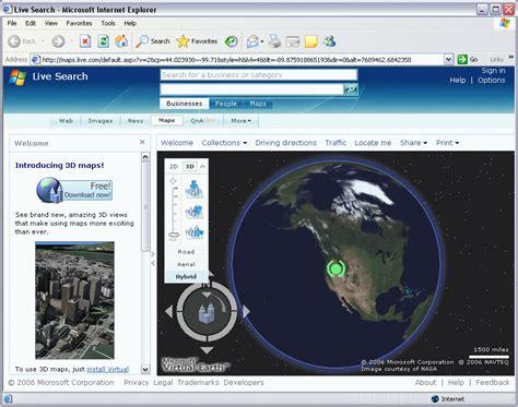 Download Microsoft Virtual Earth 3d Maps   microsoft virtual earth 3d 4 0 beta screenshot freeware