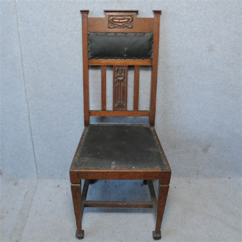 Four Art Nouveau Oak Dining Chairs Chairs Dining Dining Chairs Perth Wa