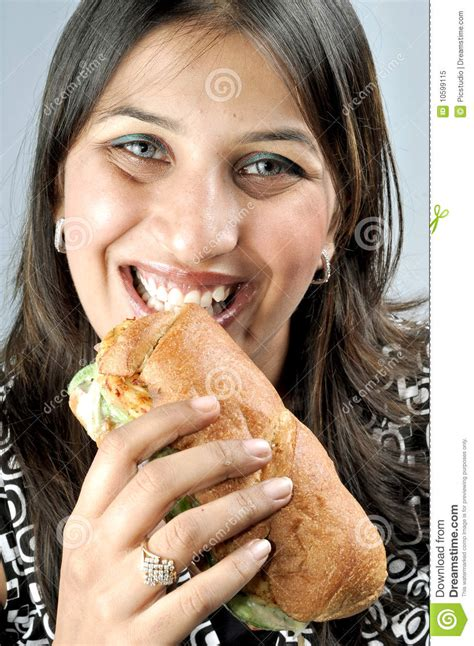 Antilla Floor Plan by Woman Eating Sand Eating Fresh Sandwitch Royalty Free