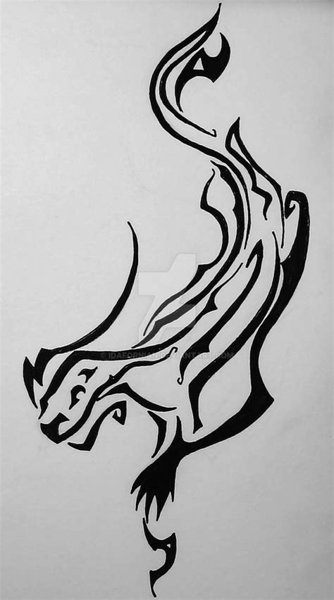 tribal otter tattoo black tribal otter stencil