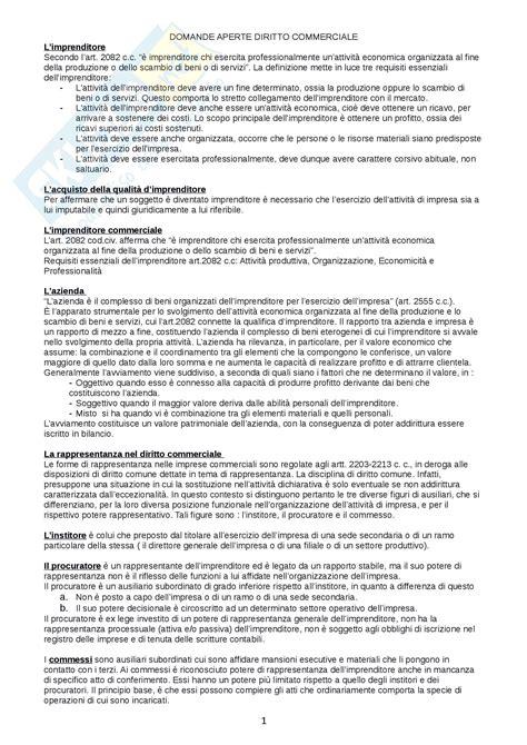 diritto commerciale dispensa diritto commerciale appunti