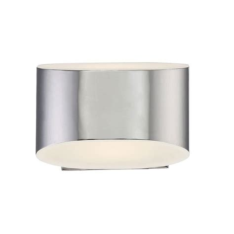Eurofase Wall Sconce Eurofase Arch Collection 1 Light Chrome Led Wall Sconce 30148 017 The Home Depot