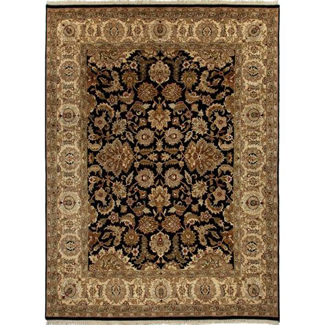 Jaipur Area Rugs Jaipur Living Knotted Anthracite 8 Ft X 10 Ft Area Rug Rug100122 The Home Depot