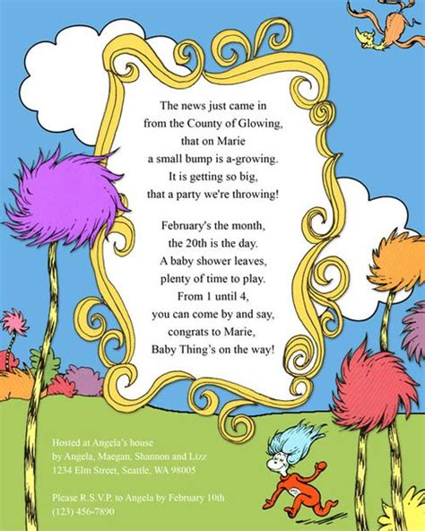 free dr seuss invitation templates dr seuss baby shower invitations printable free