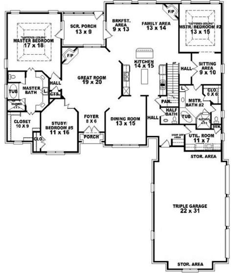 7 bedroom floor plans 7 bedroom house plans 1000 images about blueprints on