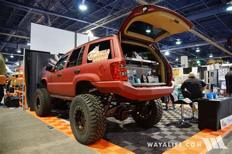 sema jeep grand 2016 sema armadillo liner jeep wj grand