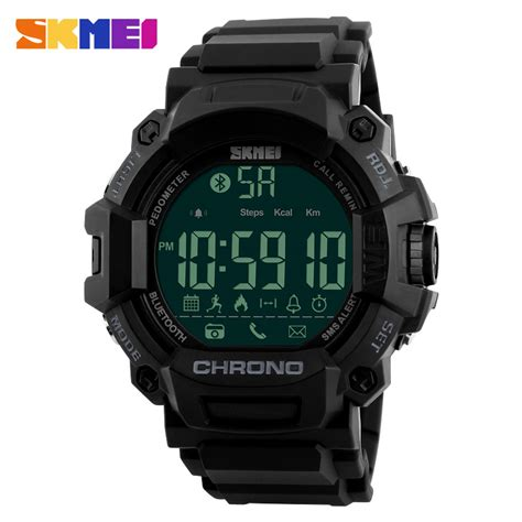 Jam Smartwatch I One skmei jam tangan olahraga smartwatch bluetooth 1249 black jakartanotebook