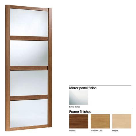 made to measure shaker 4 panel mirror sliding wardrobe