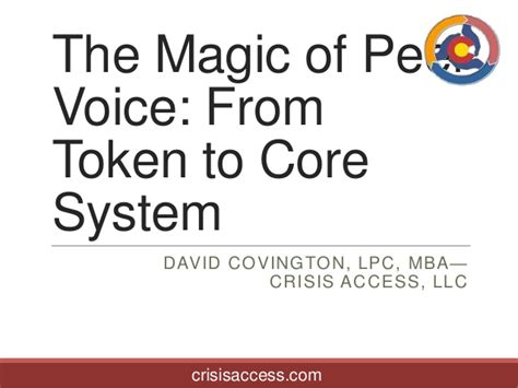 David Covington Lpc Mba Ceo And President At Ri International by Project Magic Of Peer Voice 2013 10
