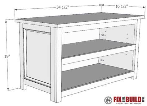 shoe storage bench plans diy adjustable shoe storage bench fixthisbuildthat