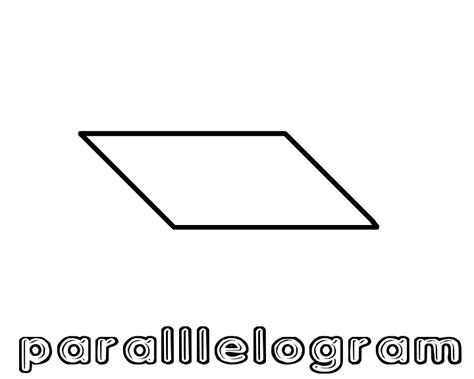 printable shapes rhombus parallelogram printable coloring pages