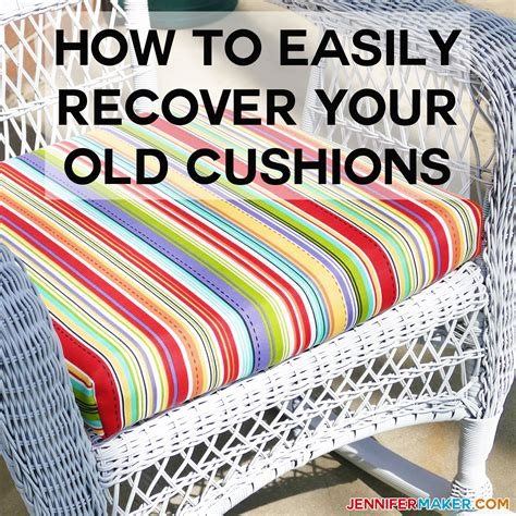 How To Recover Patio Cushions by How To Recover Your Outdoor Cushions Easy