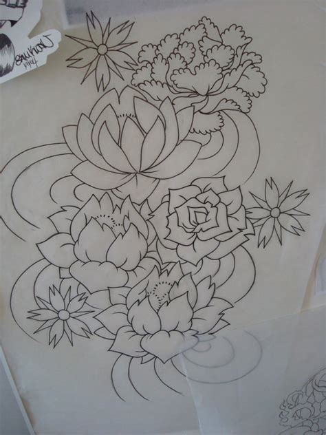 flowing tattoo designs flower tattoos
