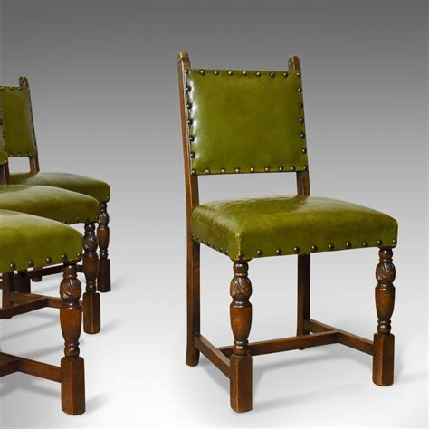 Jacobean Dining Chairs Set Of Four Antique Dining Chairs Jacobean Revival Oak Circa Antiques