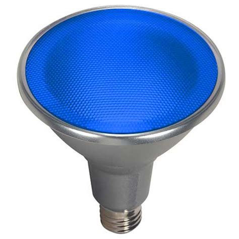 par38 blue led flood light satco s9482 14 95 15par38 led 40 176 blue 120v 15w led