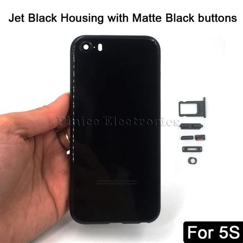 Housing Iphone 5s Like Iphone 7 Jet Black Langkaa Booss new housing for iphone 5 5s se like 7 aluminum metal back