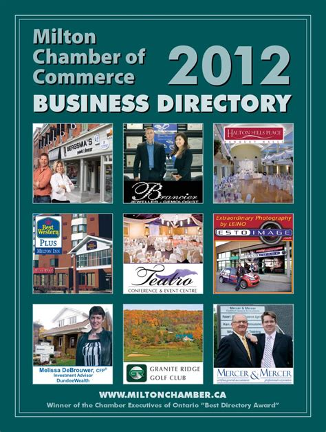 chamber of commerce business to 2012 milton chamber of commerce business directory by
